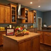 Brannock Completed Kitchen Cabinet Specialty hardware feature Installed by Leatherman Supply