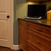 Brannock Kitchen Cabinet Specialty hardware feature Installed by Leatherman Supply